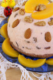 Sweet cream-cheese dish eaten at Easter Royalty Free Stock Images