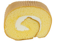 Sweet cream roll Stock Images