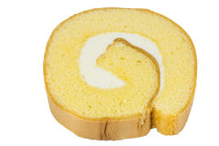 Sweet cream roll Royalty Free Stock Images