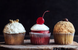 Sweet and creamy cupcakes Stock Photo