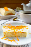Sweet creamy pudding with cottage cheese and pumpkin souffle Stock Images
