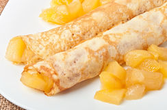 Sweet crepes Stock Images