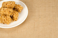 Sweet crispy noodle Stock Images