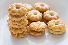 Sweet crispy pineapple biscuit with sugar Stock Image