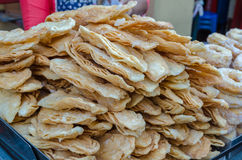 Sweet crispy southern flat bread stock images
