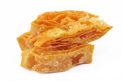 Sweet crispy southern flat bread. On white background Stock Photo