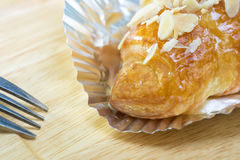 Sweet Croissant with Almond Royalty Free Stock Photo