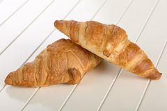 Sweet Croissant with chocolate Royalty Free Stock Image