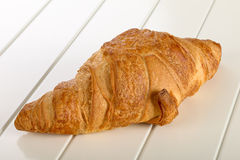 Sweet Croissant with chocolate Stock Photos