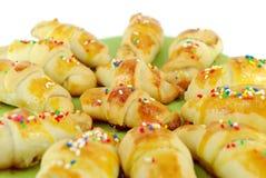 Sweet croissant close detail Stock Image