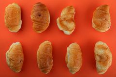 Croissant mini studio quality light. Sweet croissant mini studio quality light Royalty Free Stock Photo