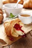 Sweet croissants Stock Photos