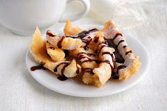 Sweet crunchy stick with chocolate coating Stock Photography