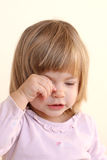 Sweet crying child Stock Images