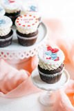 Sweet cup cakes Stock Image