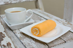 Sweet and cup of coffee Stock Photography