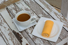 Sweet and cup of coffee Royalty Free Stock Image