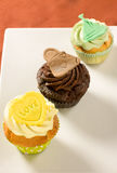 Sweet cupcake. With heart and word love Stock Photo