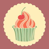 Sweet cupcake. Stock Images