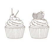 Sweet cupcake Stock Photos