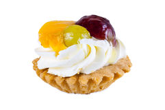 Sweet cupcake with fruits Stock Photography