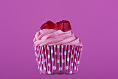 Sweet cupcake with jelly Stock Images
