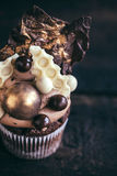 Sweet cupcake served Stock Images