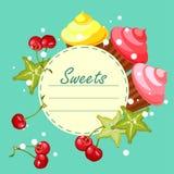 Sweet cupcakes card Royalty Free Stock Photo