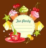 Sweet cupcakes card Stock Image