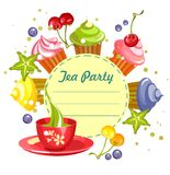 Sweet cupcakes card Stock Images