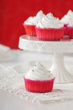 Sweet cupcakes with cream Royalty Free Stock Photography