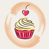 Sweet cupcakes. St. Valentines Day. vector illustration