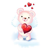 Sweet cupid bear Royalty Free Stock Photo