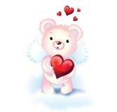 Sweet cupid bear stock illustration