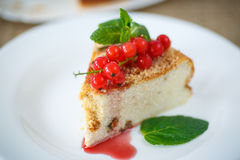 Sweet curd pudding with berries Stock Image