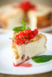 Sweet curd pudding with berries Royalty Free Stock Photos