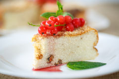 Sweet curd pudding with berries Stock Photo