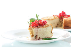 Sweet curd pudding with berries Stock Images