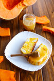 Sweet curd pudding with pumpkin Stock Image