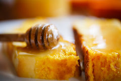 Sweet curd pudding with pumpkin Stock Photography