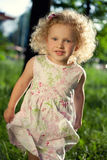 Sweet curly girl. Royalty Free Stock Photos