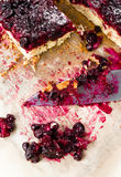 Sweet currant cherry pie with powdered sugar Stock Photography
