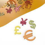 Sweet currency symbols Stock Photo