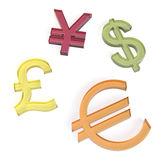 Sweet currency symbols Royalty Free Stock Photo