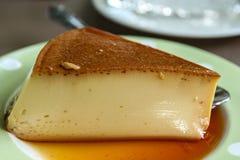 A sweet custard with caramel Stock Image