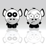 Sweet and cute animal icon vector Royalty Free Stock Image