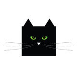 Sweet and cute black cat vector Royalty Free Stock Photography