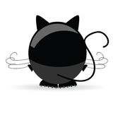 Sweet and cute cat vector Stock Image