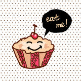 Sweet cute cupcake Royalty Free Stock Image
