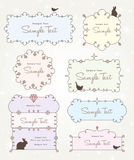 Sweet and cute frames design Stock Photos